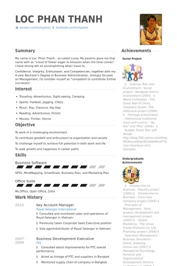 example de cv key account manager
