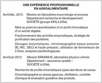 exemple cv 5 ans d'experience