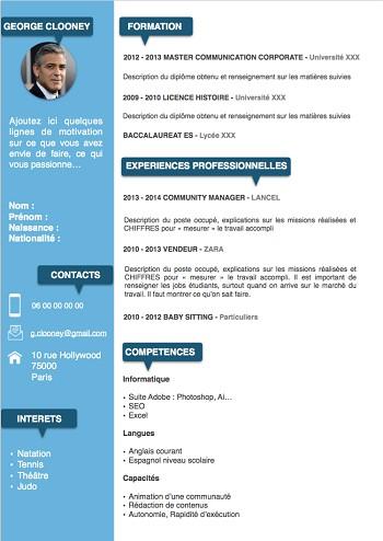 exemple de cv 2015 pdf