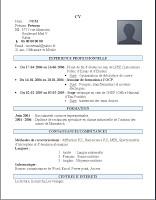 exemple de cv 2017 maroc