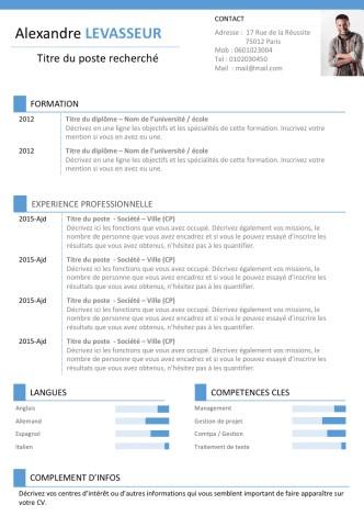 exemple de cv 2017 pdf
