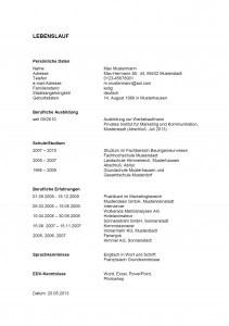 exemple de cv allemand