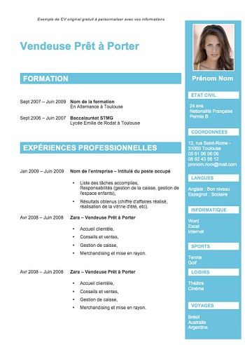 exemple de cv attractif