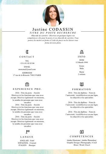 exemple de cv avec competences