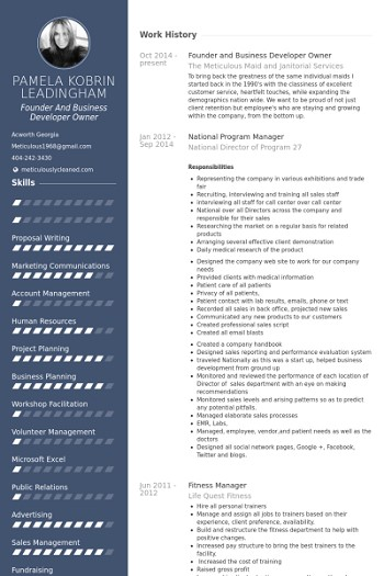 exemple de cv business developer