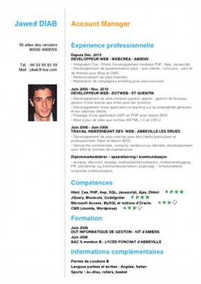 exemple de cv collegien