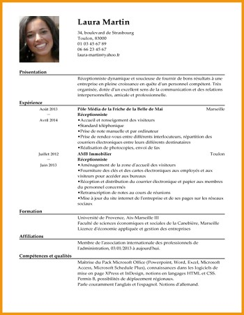 exemple de cv comptable confirme