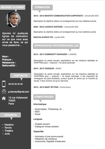 exemple de cv etudiant original