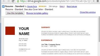 exemple de cv google doc