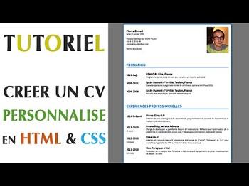 exemple de cv html css
