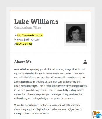 exemple de cv html