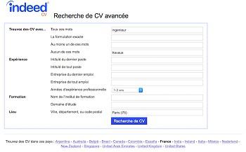 exemple de cv indeed