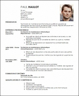 exemple de cv informatique