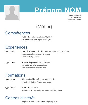 exemple de cv libre office