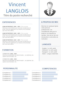exemple de cv modifiable