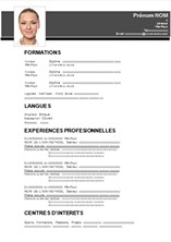 exemple de cv pdf a telecharger