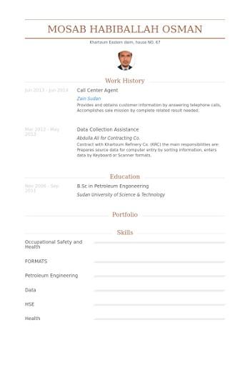 exemple de cv pour un centre d u0026 39 appel