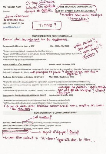 exemple de cv technico commercial