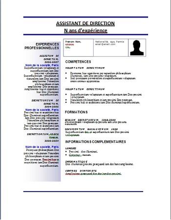 exemple de cv word maroc 2013