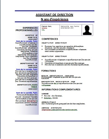 exemple de cv word maroc telecharger