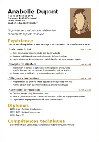 exemple de cv wordpad