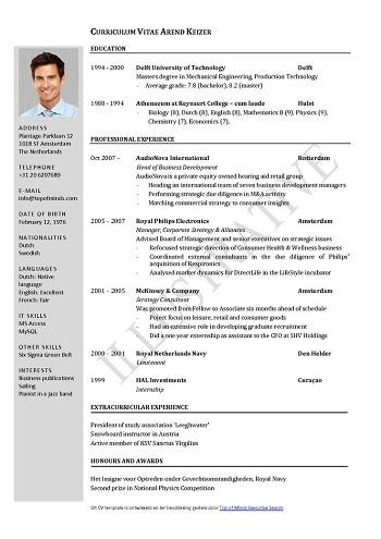 modele de cv 2017 pdf