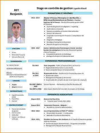 modele de cv comptable