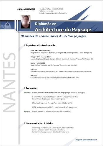 modele de cv d'architecte