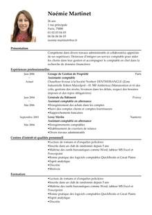 modele de cv de comptable