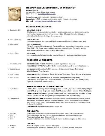 modele de cv directeur technique