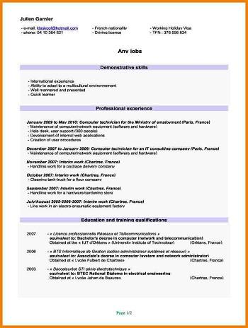 modele de cv employé libre service modele de cv employe libre service modele de cv employé libre service