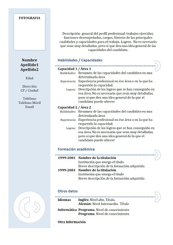 modele de cv en espagnol