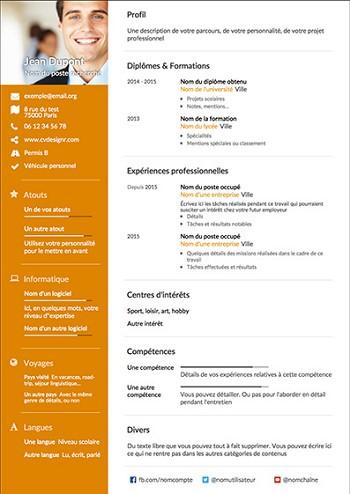 modele de cv en pdf