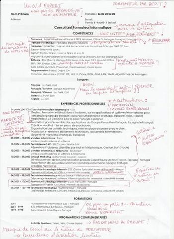 modele de cv formateur