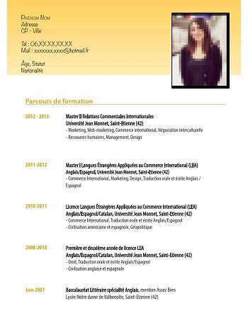 modele de cv francais pdf