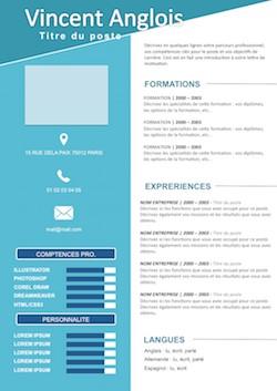 modele de cv gratuit a telecharger open office