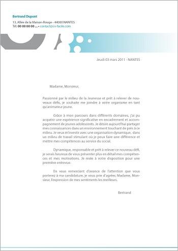 modele de cv lettre de presentation