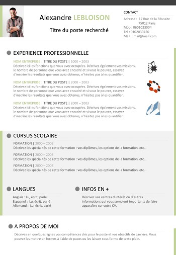 modele de cv libre office