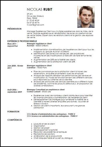 modele de cv manager