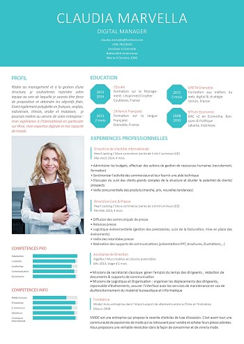 modele de cv marketing gratuit