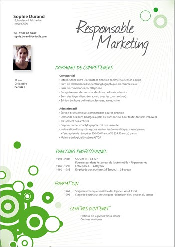 modele de cv marketing