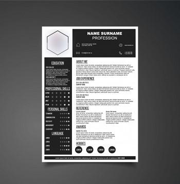 modele de cv noir et blanc