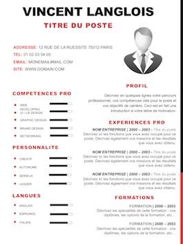 modele de cv par competences