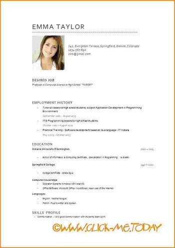 modele de cv pdf