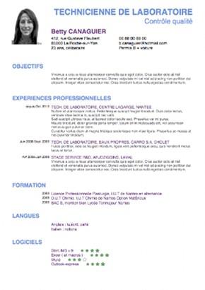 modele de cv pour 1er emploi