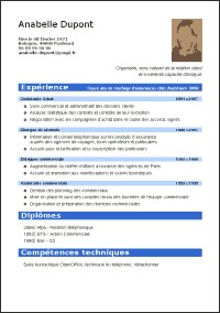 modele de cv pour open office