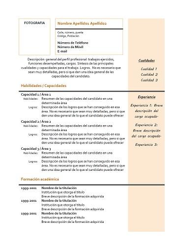 modele de cv quebec pdf