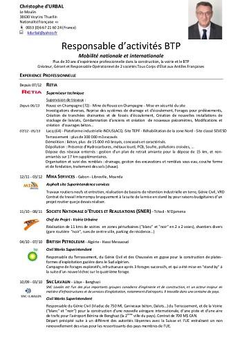modele de cv responsable administratif et financier