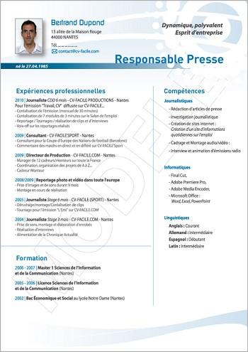 modele de cv responsable commercial