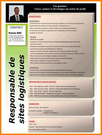 modele de cv responsable logistique